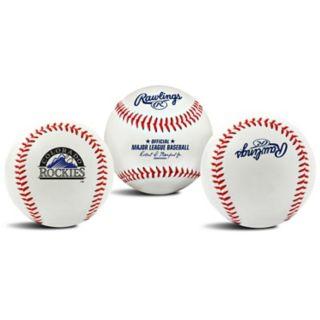 Colorado Rockies Team Logo Replica Baseball
