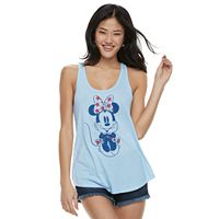 Juniors' Disney's Minnie Mouse Americana Tank Top