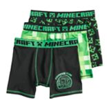Boys 6-12 Minecraft Creeper 3-Pack Boxer Briefs