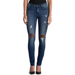 Women's Rock & Republic® Berlin Ripped Mesh Skinny Jeans