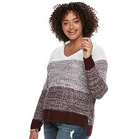 Juniors' Plus Size SO® Raglan V-Neck Sweater
