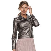 Women's Apt. 9® Faux Leather Moto Jacket