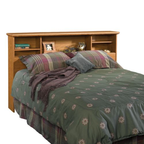 full/queen bookcase headboard  oak, Headboard designs