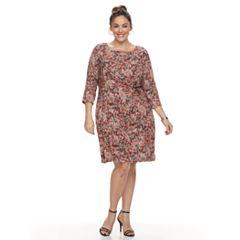 Plus Size Dana Buchman Waist Twist Dress