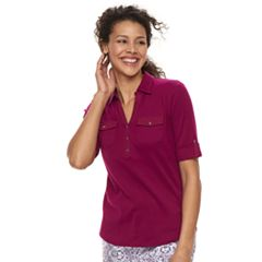 Women's Croft & Barrow® Utility Polo