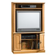 Sauder Corner Entertainment Center - Oak