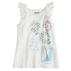 Girls 4-10 Jumping Beans® Flutter Sleeve Printed Tank Top