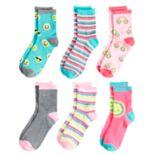 Girls 4-16 Elli by Capelli 6-pack Crew Socks