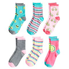 Girls 4-16 Elli by Capelli 6-pack Crew Socks