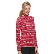 Women's Croft & Barrow® Long Sleeve Mockneck Top