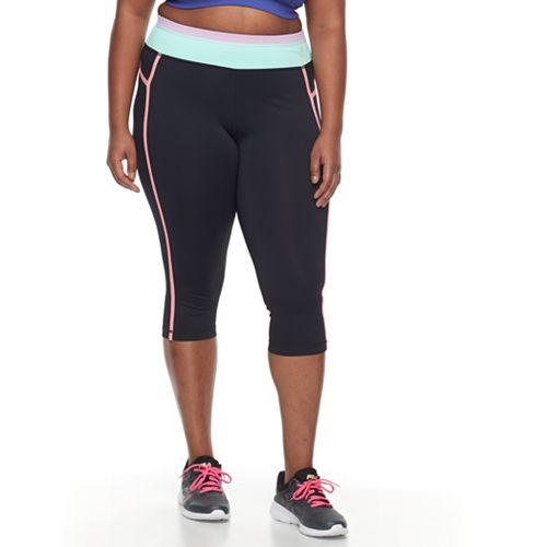771fbc71b6b4c Plus Size FILA SPORT® Colorblock Yoga Capris