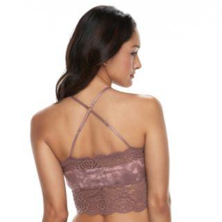 Juniors' Mudd® Lace Longline Bralette