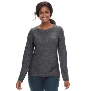 Petite Croft & Barrow® Textured Crewneck Sweater