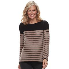 Petite Croft & Barrow® Textured Crewneck Sweater