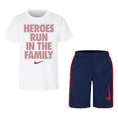Boys 4-7 Nike 'Heroes Run In The Family' Tee & Shorts Set