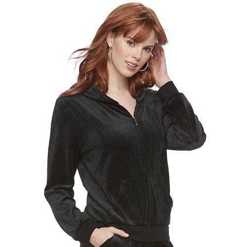 Women's Juicy Couture Solid Velour Hoodie