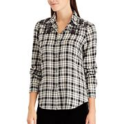 Petite Chaps Plaid Button-Up Shirt