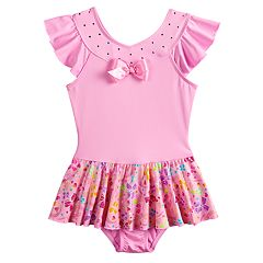 Girls 4-14 JoJo Siwa Pretty Bows Skirtall Dance Leotard