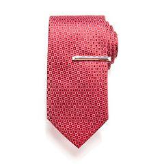 Men's Apt. 9® Patterned Tie & Tie Bar