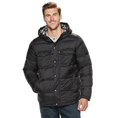 Big & Tall Levi's® Quilted Puffer Trucker Hybrid Jacket