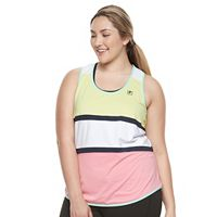 Plus Size FILA SPORT® Stripe Block Tank Top