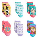Disney's Frozen Girls 4-6x 6-pack No-Show Socks