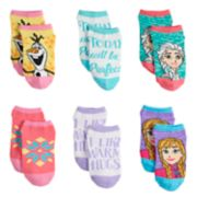 Disney's Frozen Girls 4-6x 6-pack No-Show Socks