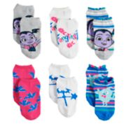 Disney's Vampirina Girls 4-6x 6-pack No-Show Socks