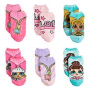 Girls 4-6x L.O.L. Surprise! 6-pack No-Show Socks