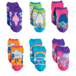 Girls 4-6x DreamWorks Trolls 6-pack No-Show Socks
