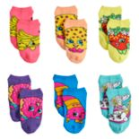 Girls 4-6x 6-pack Shopkins No-Show Socks