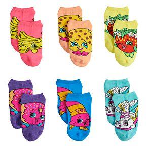 Girls 4-6x 6-pack Shopkins No-Show Socks