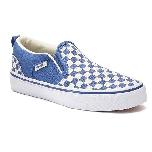 cb0ffe9e6fb5 Vans Asher Boys  Checkered Skate Shoes