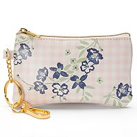LC Lauren Conrad Floral Gingham Coin Purse