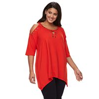 Plus Size French Laundry Grommet Top