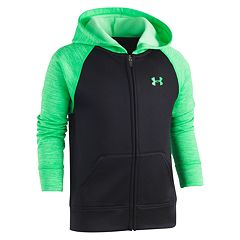 Boys 4-7 Under Armour Logo Zip Raglan Hoodie