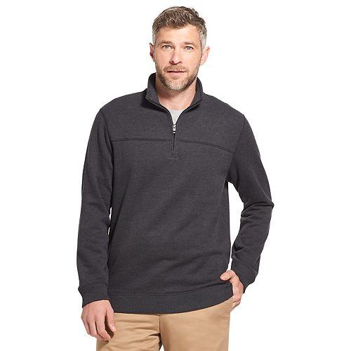 Men's Arrow Saranac Classic-Fit Fleece Quarter-Zip Pullover Sweater