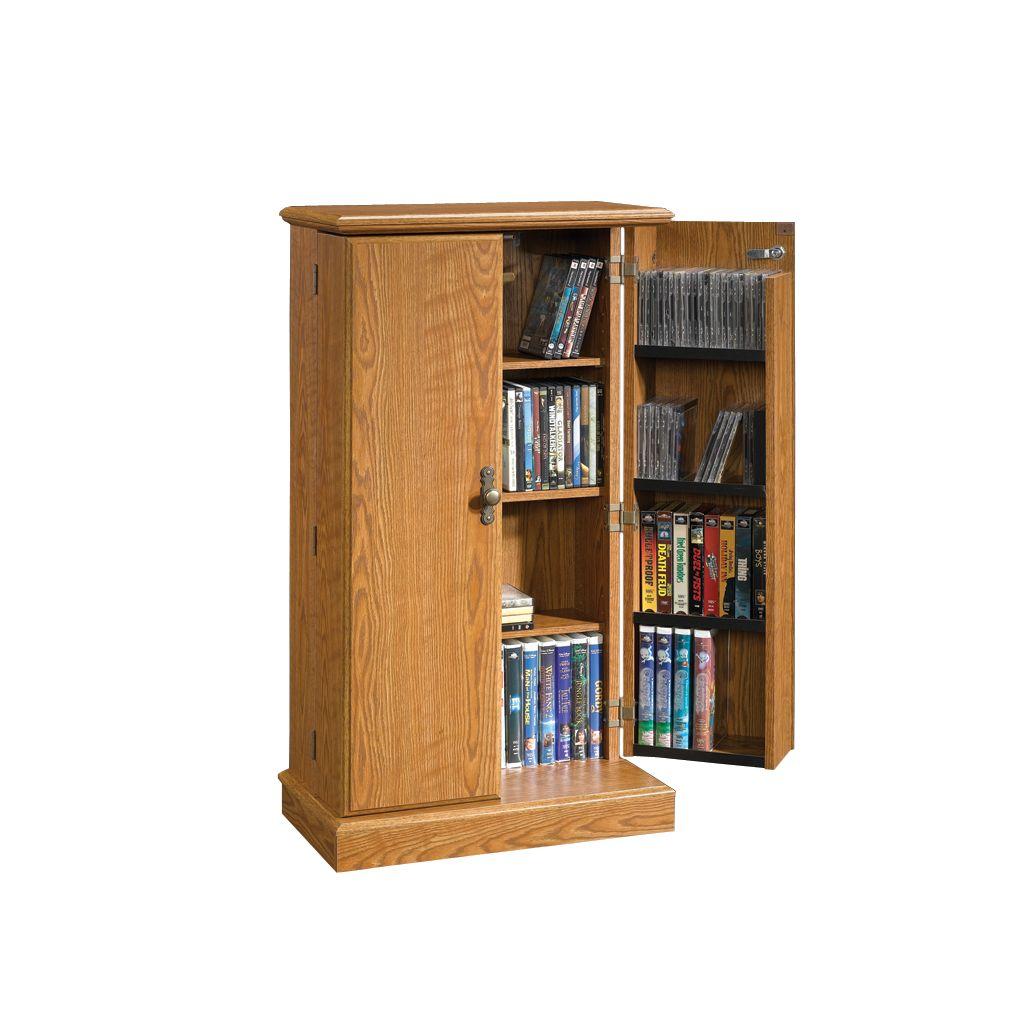 Delicieux Sauder Multimedia Storage Cabinet   Oak