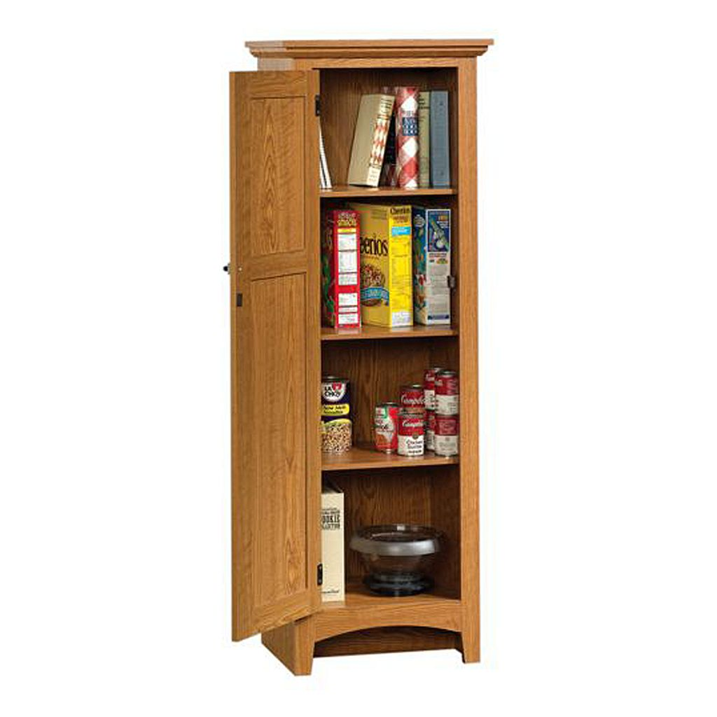 Sauder 1-Door Pantry - Oak