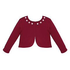 Girls 7-16 & Plus Size American Princess Jewel Neck Cardigan