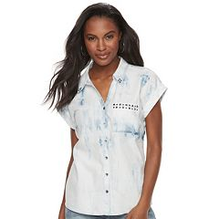 Women's Rock & Republic® Cuffed Embellished Shirt
