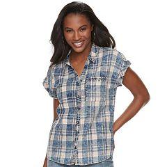 Women's Rock & Republic® Cuffed Embellished Shirt