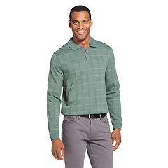 Men's Van Heusen Flex Classic-Fit Windowpane Polo