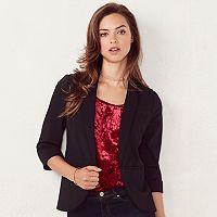 Women's LC Lauren Conrad Ponte Open Front Blazer