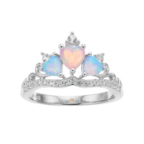 Sterling Silver Lab Created Opal Tiara Ring by Kohl's