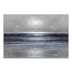 Artissimo Designs Silver Seascape III Canvas Wall Art