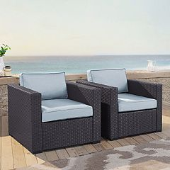 Crosley Furniture Biscayne Patio Wicker Chair 2 pc Set