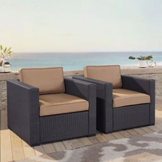Crosley Furniture Biscayne Patio Wicker Chair 2-piece Set