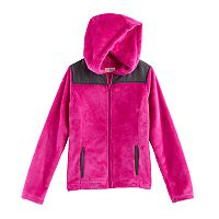 Girls 7-16 SO® Hooded Sherpa Zip-Up Jacket