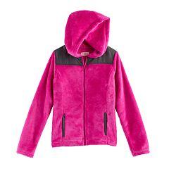 Girls 7-16 SO® Hooded Sherpa Zip-Up Jacket